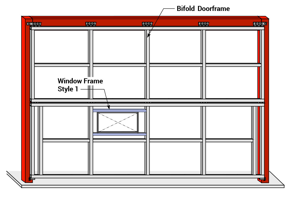 bifold door window options