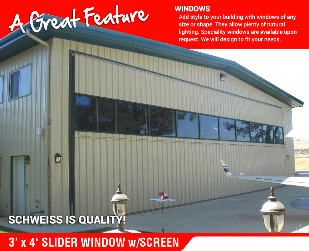 3x4 slider window with screen