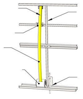Left Side Vertical Member - Wind Pin