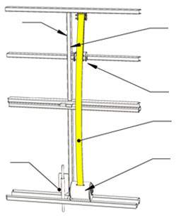 Right Side Vertical Member - Wind Pin