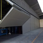 Row of Schweiss Lift Strap Bifolds