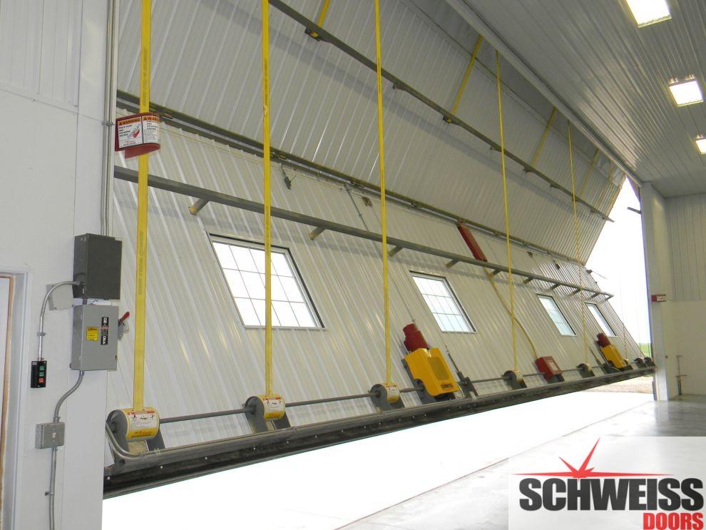 The Schweiss bifold liftstrap / autlatch door is the best selling bifold door on the market.