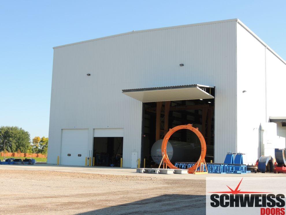 Industrial Bifold crane door