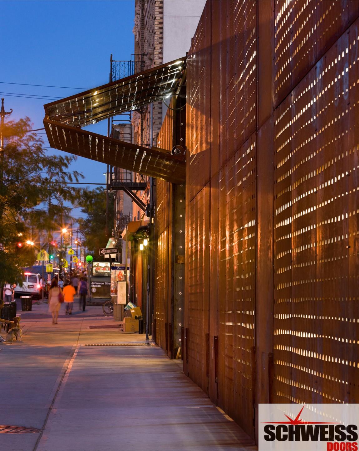 New York rustic looking bifold doordoor