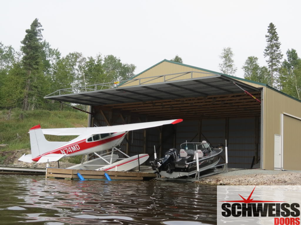 Canadian floatplane hangar door