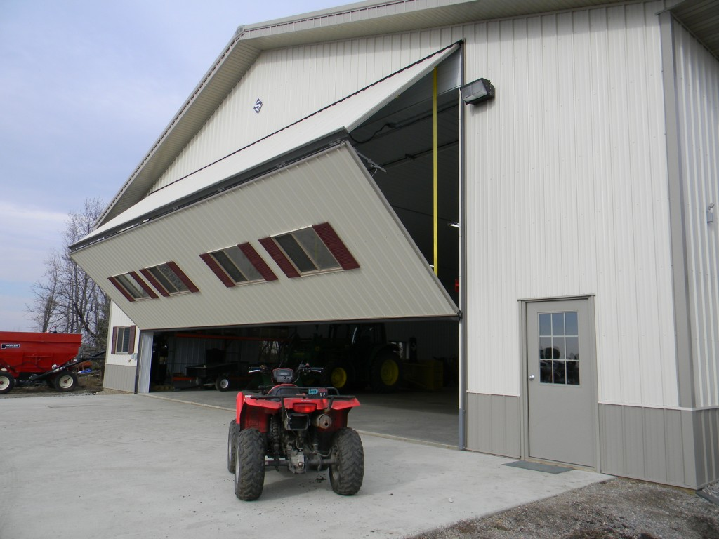 Farmers and ranchers rely on Schweiss doors for machine sheds to store large machinery.