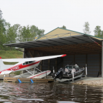 Floatplane hangar doors, boathouse doors and marina doors are a Schweiss Door specialty