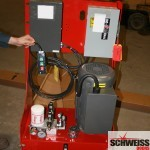 Schweiss 95 percent efficient hydraulic door pump