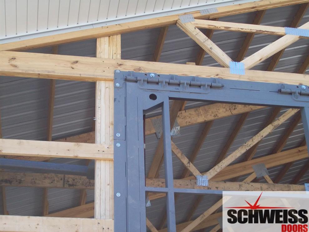 Hydraulic door hinges and headers