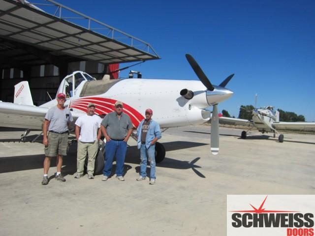 Sprayplane pilots love dual hydraulic hangar doors