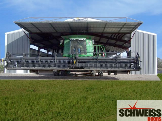 Schweiss hydraulics are designed for large farm and ranch hydraulic doors