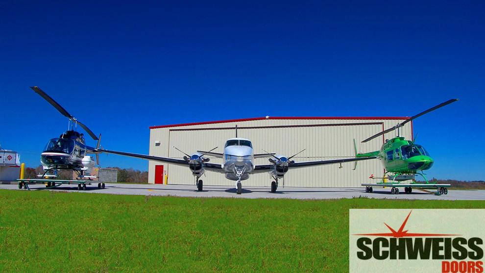 Bifold hangar doors for all type aircraft