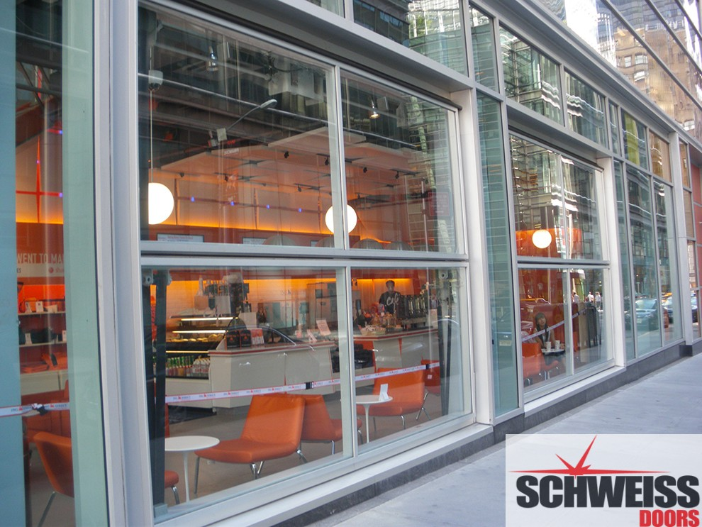 Bifold doors for restaurants and hotel doors