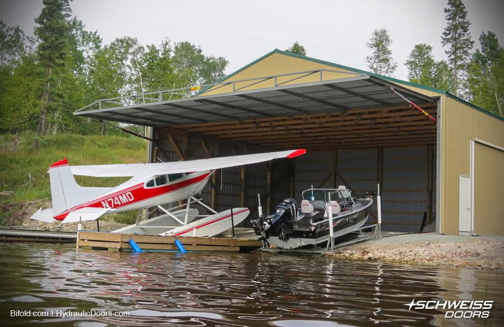 FloatPlane Hangar Hydraulic Door