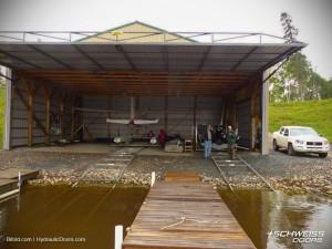 FloatPlane Hangar Hydraulic Door in Alaska