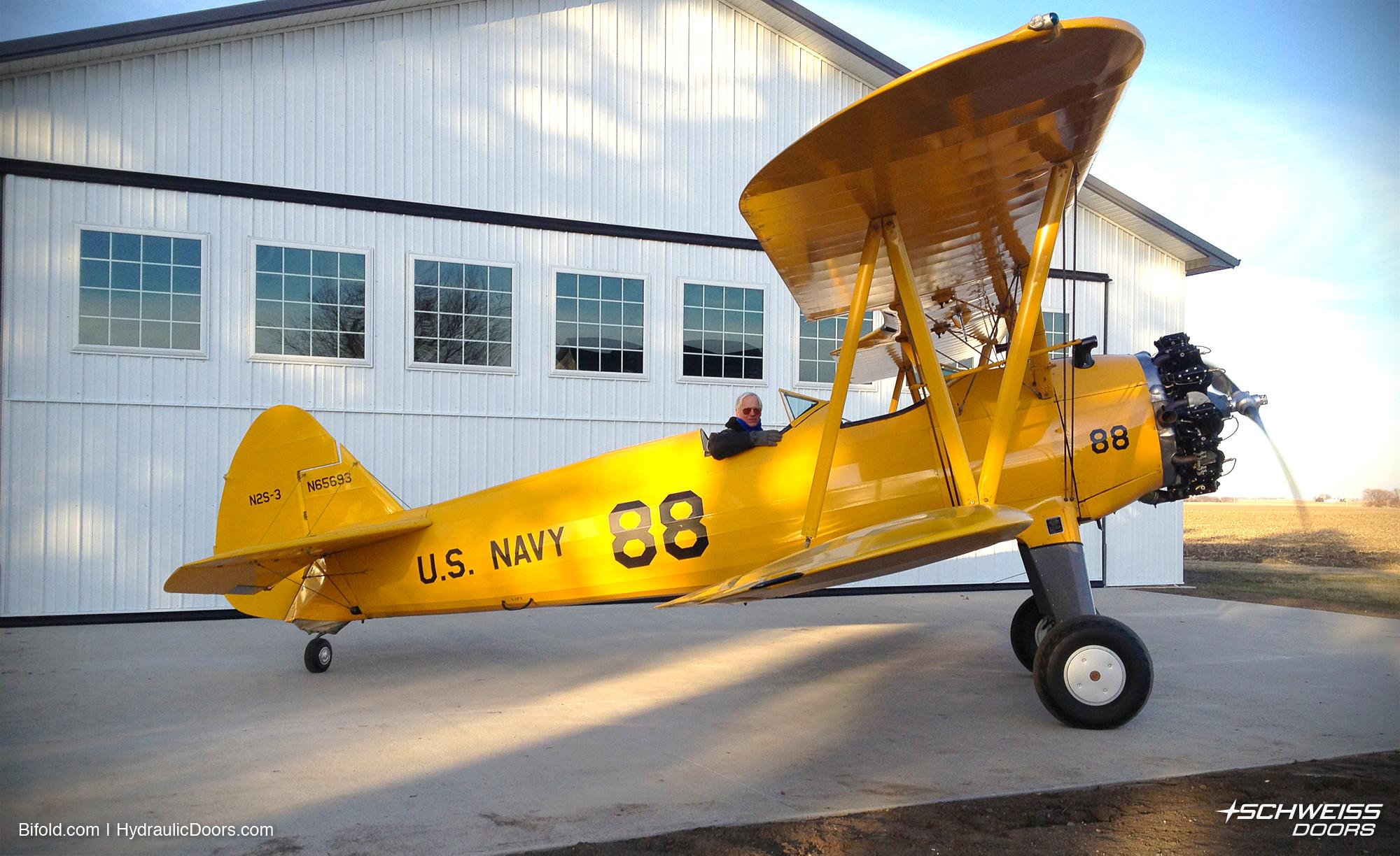 Collector plane has Schweiss Hangar Door to go with it