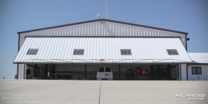 Wind-loaded Schweiss Hydraulic Hangar Doors in Kansas