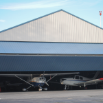 Blue Aviation Hangar Doors